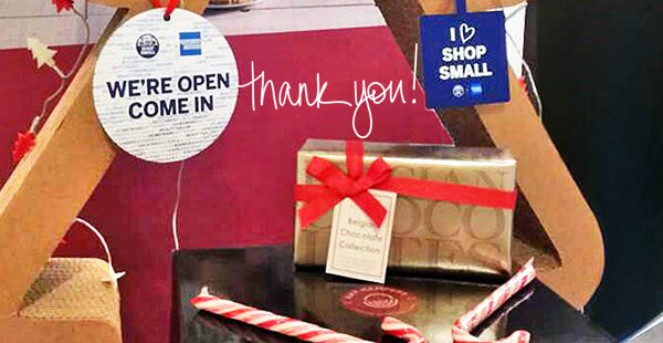 Thanking everyone who has supported small business like our