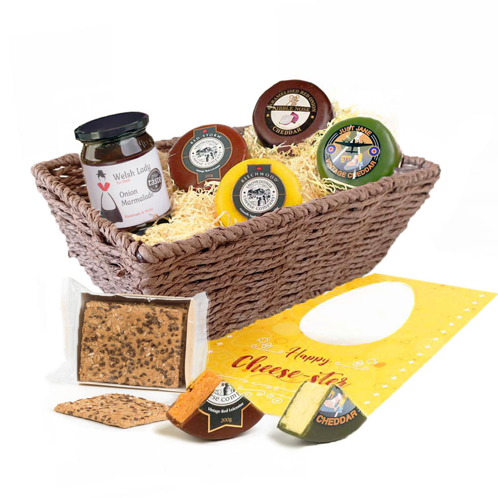 Happy Cheese-ster Easter Basket - Alternative to Chocolate Easter gift