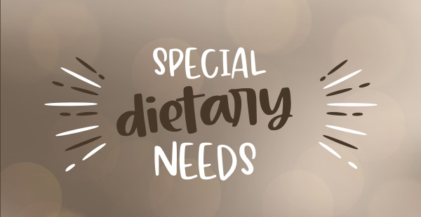 Special Dietary Needs - Vegetarian, Vegan, Gluten Free, Halal, Alcohol Free