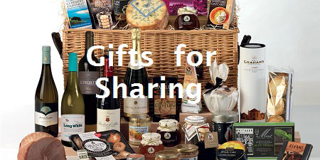 Gifts for sharing, christmas hampers ideas