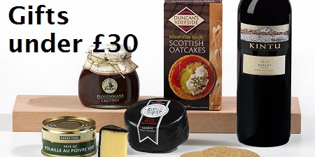Great value gifts under£30, christmas hampers offers