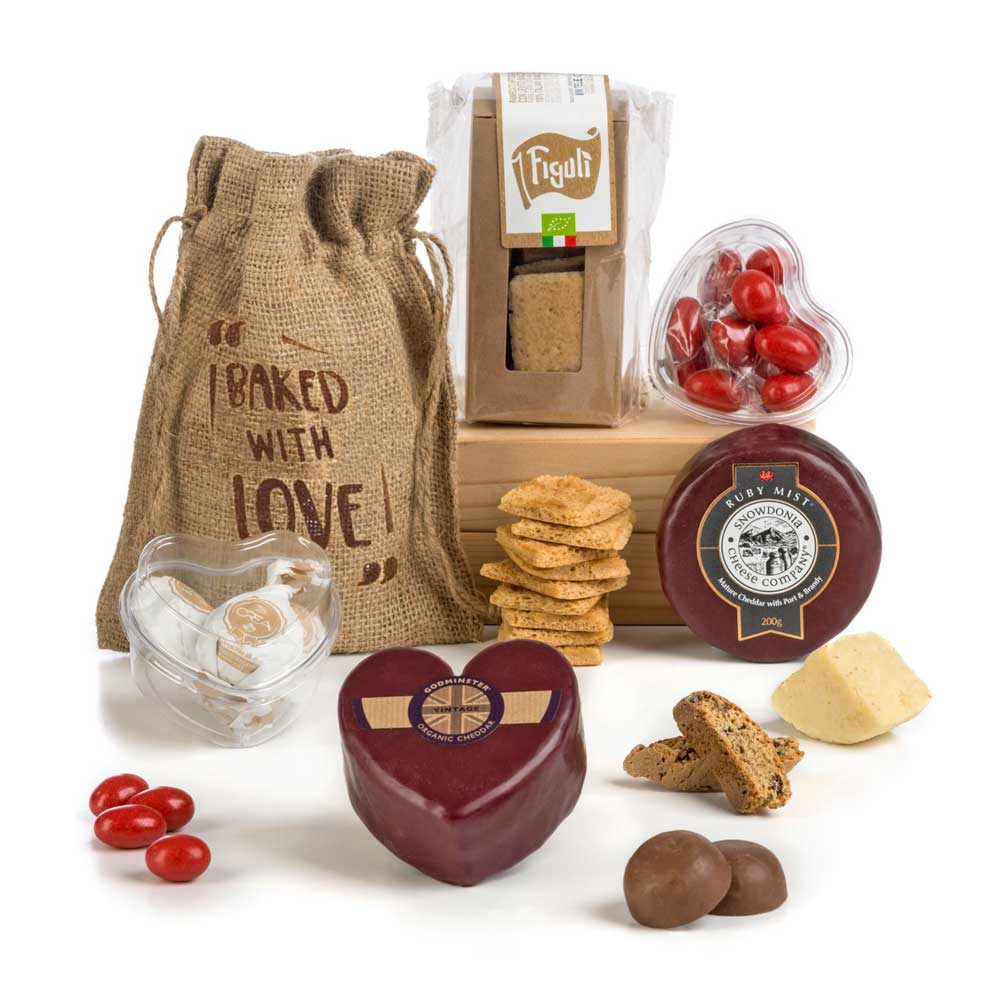 Valentines Cheese gift