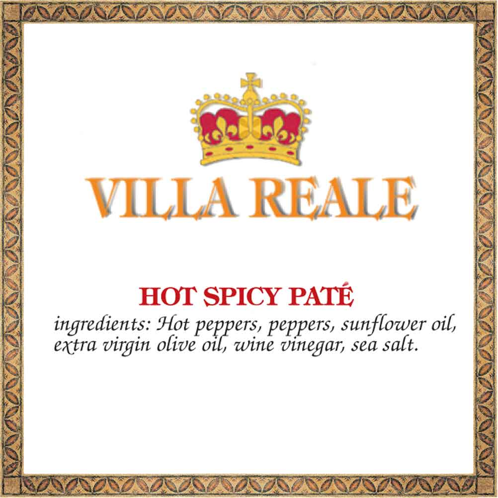 Hot Chili Pate Tapenade, Villa Reale ingredients