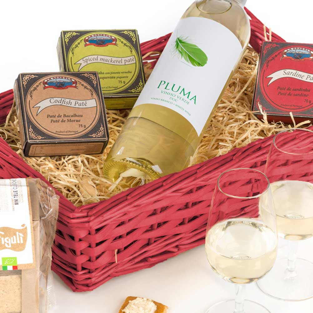 sardine, mackerel and cod pate with vinho verde from Portugal hamper