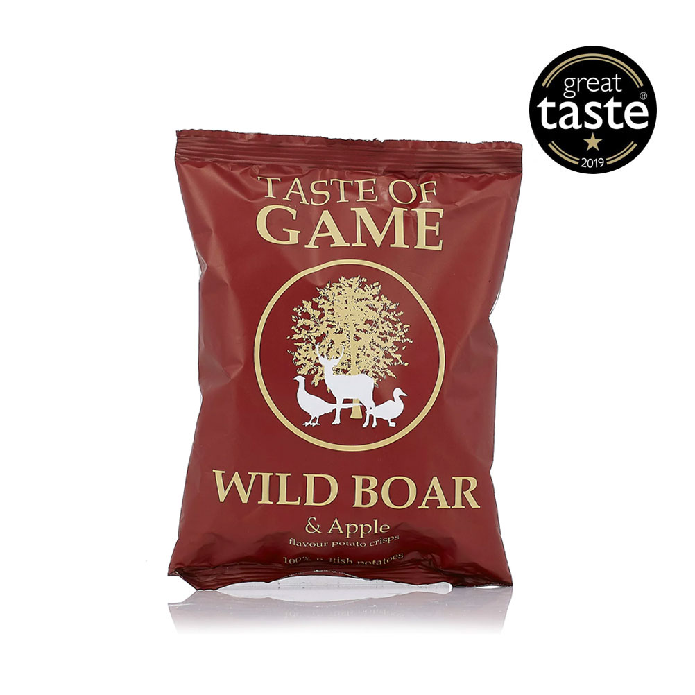 Wild Boar & Apple Crisps, Taste of Game 40g