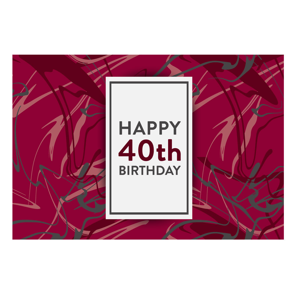 Label - 40th Birthday