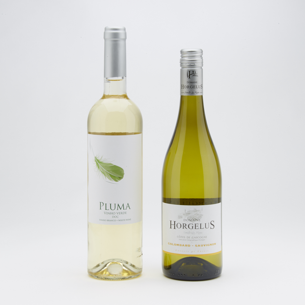 Connoisseur Contemporary Two bottles White wine christmas gift  Pair