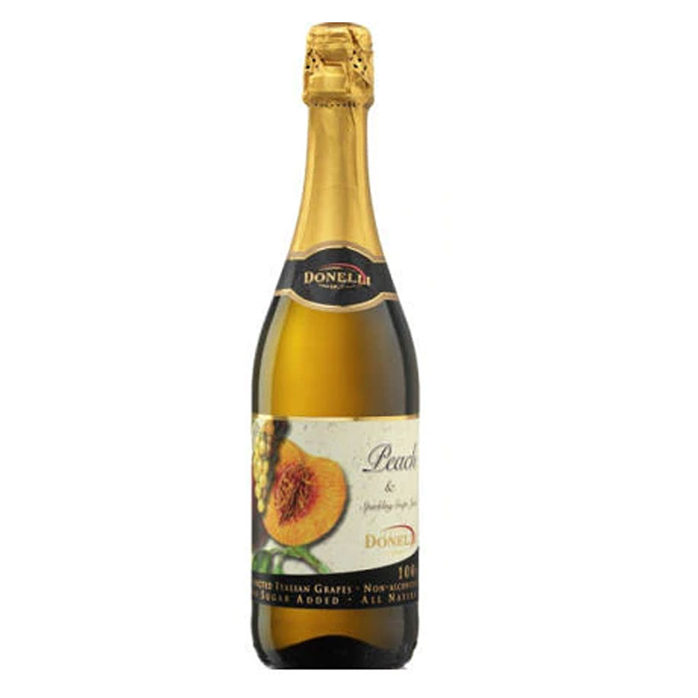 Peach Sparkling Grape Juice, Donelli 75cl