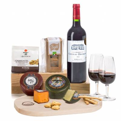 Claret Cheese Board Gift Set